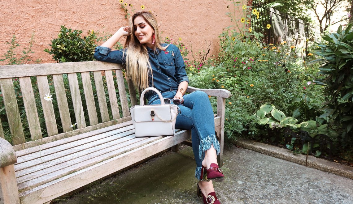 Jeans con flecos – Look De Prati