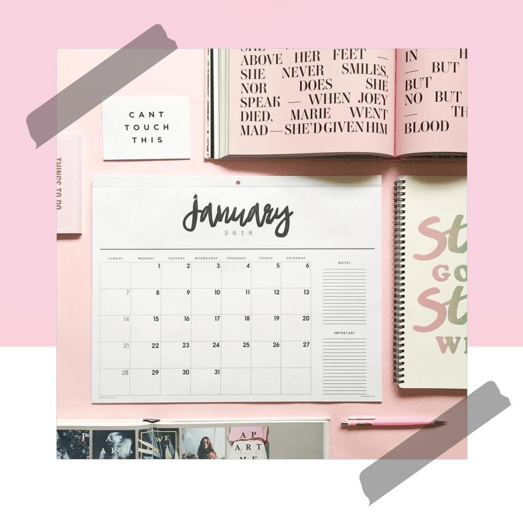 calendario the blank post