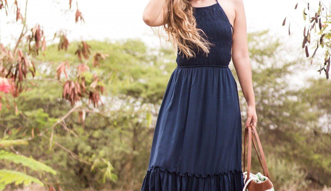 Maxi vestido azul – De Prati